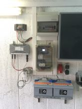 Kompakt-PV Installation