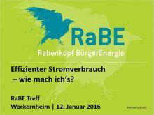Energiesparen - RaBE Treff Januar 2016